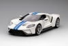 FORD GT Forzen White w/ Lightning Blue Stripe (999 ex)