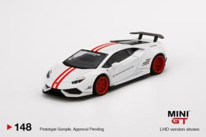 LAMBORGHINI Huracán Version 1 White w/ Red Stripe LB★WORKS RHD