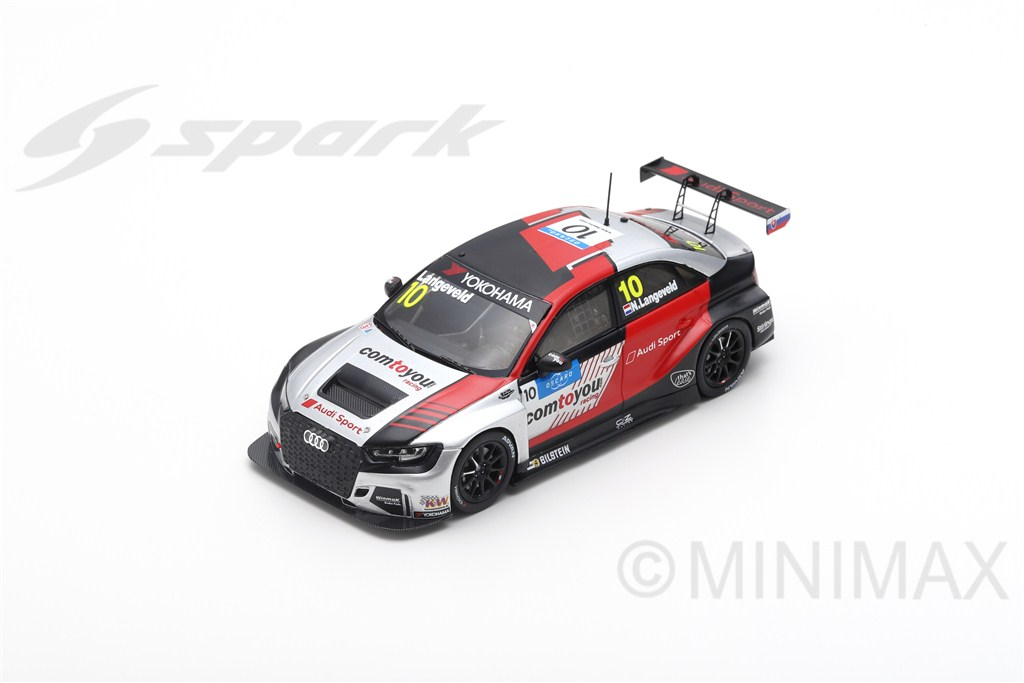 AUDI RS3 LMS N°10 Comtoyou Team Audi Sport  Race 3 WTCR 2019 Slovakia Ring - Niels Langeveld